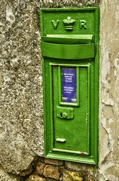 Shot of an old P (Irish) postbox taken in Howth, Dublin , Ireland.