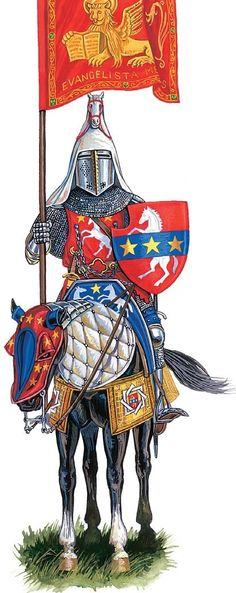 loading Middle Ages History, Medieval Knight, Italian Renaissance, 14th Century, Weapons, Knights, Warriors, Illustration, Character Design