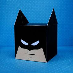 DIY Printable Bat Superhero Cupcake Holder Box Treat Box Party Box Batman PDF File