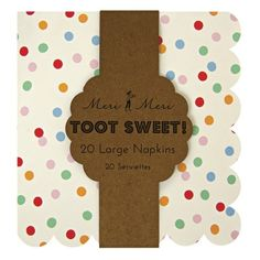 Toot Sweet Party Napkins from Kara's Party Shop! Too cute!