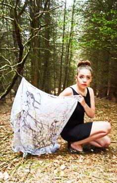 Handmade silk scarf, digitally printed. Designed by Corren Alyssa - www.facebook.com/correnalyssatextiles Handmade Design, Silk, Printed, Facebook, Dresses, Fashion, Gowns, Moda, La Mode