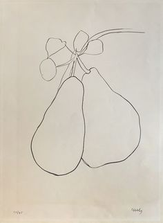 Bid now on Pear II by Ellsworth Kelly. View a wide Variety of artworks by Ellsworth Kelly, now available for sale on artnet Auctions. Contour Line Drawing, Book Drawing, Plant Drawing, Drawing Games, Natural Form Art, Mouth Drawing, Hard Edge Painting, Ellsworth Kelly, Types Of Art