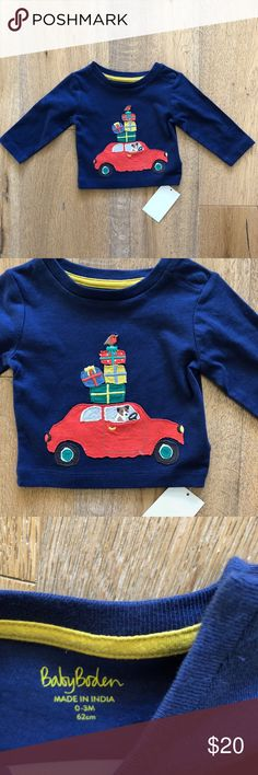 ac99efae8 Mini Boden Dog Driving Car with Presents Tee Shirt New with Tag Mini Boden  Long sleeve