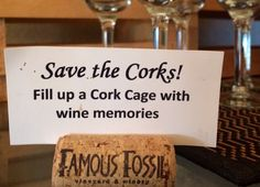 Save your wine corks and use them as table placements!
