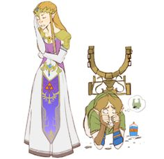 I can see this conversation... Link: ZELDA COME ON PLEASE!! Zelda: Why Link- you're acting childish Link: Please- it's not the same- Zelda: No. Link: (looks up with puppy dog eyes) Zeldaaa Zelda: (facepalms and sighs) Come on you idiot,doesn't the twilight look lovely today? Link: AAAAAAAAAAAAH MIDNA (breaks down into sobs)