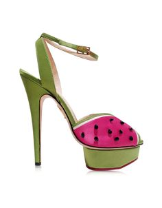 Charlotte Olympia Mouthwatering Platform Sandal w/Crystals 36 (6 US   3 UK   36 EU) at FORZIERI