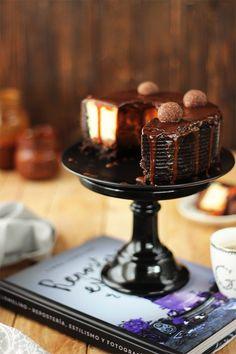 Receta para preparar Tarta de queso de caramelo y chocolate, Trucos definitivos para triunfar en tu preparación.
