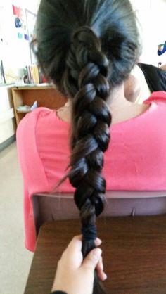 Dutch ponytail braid