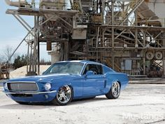 Not normally a big Mustang girl, but between the stance and the color, I'm floored.