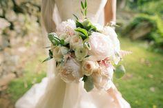 Real Wedding Inspiration: Lan + Daniel's Super Romantic Haiku Mill Wedding| Gown: Ruby by Lea-Ann Belter via Lovely San Francisco | Image: Anna Kimm Photography