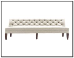 FRENCH STYLE UPHOLSTERED 3 SEATER BENCH ST EMILION BUTTON BACK SEAT SOFA