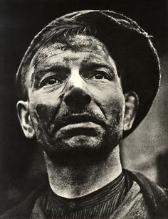 """As tough as it gets!""..Portrait of a Yorkshire ""Pit-man"" - 1934.. Photo by Karel Hajek"