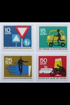 Vintage DDR stamps