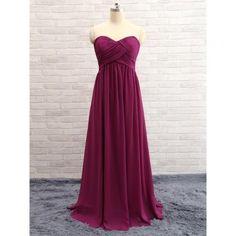 A Line Evening Dresses,Burgundy Chi..