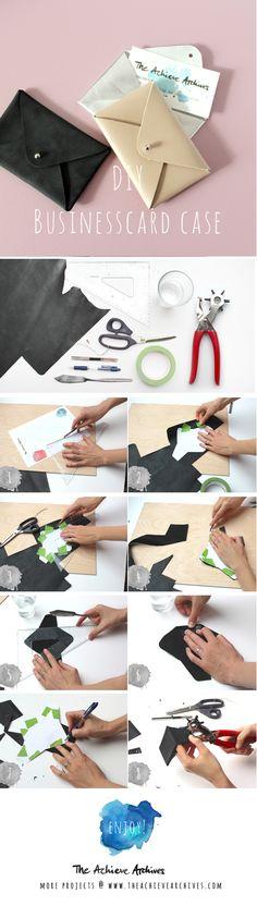 easy DIY leather businesscard case without sewing! was du für dein selbstgemachtes Visitenkartenetui brauchst | www.theachievearchives.com