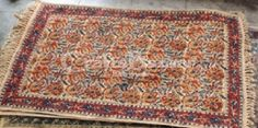 Ideal for covering your floor. This Hand-woven Cotton Dhurrie or rug in Brown color with floral motifs with a thin border is made using tie and dye technique and is from Warangal, Andhra Pradesh. These handmade Kalamkari dhurries or rugs will add to your home.he Indian Range on CraftsBazaar includes handmade block-printed durries, knottted carpets, woven cotton, jute, coir and silk rugs, cotton, woollen and silk carpets and Namdas, Gabbahs and Kilims from Kashmir to Gujarat, Rajasthan…