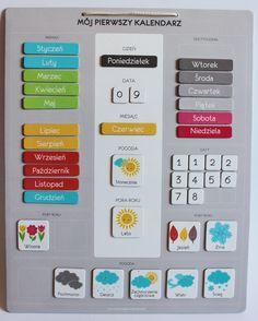 KALENDARZ MAGNETYCZNY - 2 wersja - KALENDARZE MAGNETYCZNE POGODY - Gry edukacyjne dla dzieci, wychowanie i obowiązki - Pomysłowa Mama