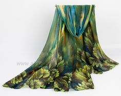Cheap shawl pin, Buy Quality scarves stoles shawls directly from China shawl triangle Suppliers: Autumn and Winter newest design 2014 fashion women's long scarf leaves print viole scarves ladies stoles soft warm shawl