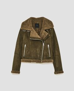 Image 8 of FAUX SUEDE JACKET WITH TEXTURED INTERIOR from Zara
