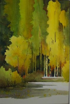 070116 Summer Almost Gone by Jane Jones Watercolor ~ 22 x 15
