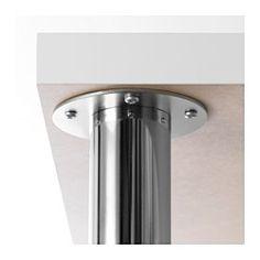 IKEA - GERTON, Bein verstellbar, , Die Tischplatte kann in der gewünschten Höhe montiert werden, da die Beine zwischen 67 und 107 cm höhenverstellbar sind.Der Tisch lässt sich problemlos umstellen; Kunststoffkappen schützen den Fußboden vor Kratzern.