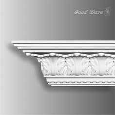 Polyurethane decorative rococo crown moulding, 3-5/16''H X 3''W X 94-1/2''L, breadth 4-7/16'', Our H&K Goodware moldings are all open to customization.