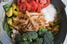 Thai chicken salad - 3 blocks :-)