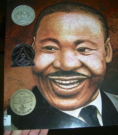 """Rev. Dr. Martin Luther King & the award winning book, Martin's Big Words #MLKDay2015  Non-violent protest.  """"White ministers told them to stop, Mayors, governors, police chiefs and judges ordered them to stop.  But they kept on marching."""""""