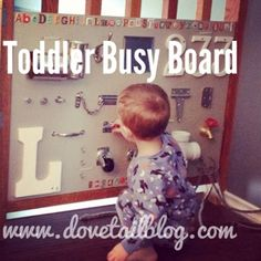 Dovetail Blog: Toddler Busy Board {Mom Gets Her DIY On}