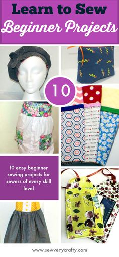 10 Beginner sewing projects for sewers of every skill level. #beginnersewing #sewingtutorial #sewingproject #swingforbeginners