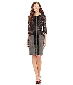 Antonio Melani Audobon Herringbone Lace Sheath Dress #Dillards