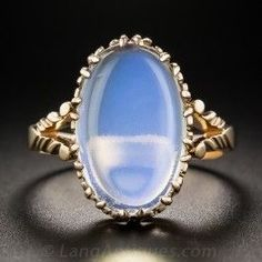 Antique Moonstone Rose Gold Ring