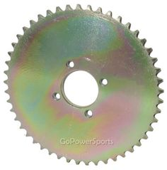 Rear drive sprocket for TrailMaster mini, Hammerhead shark and torpedo. Sprocket has 49 teeth for chain, 4 bolt pattern is 1 center hole is 1 diameter. Caravan Mover, Go Kart Engines, Go Kart Parts, 3 Wheel Scooter, Diy Go Kart, Hammerhead Shark, 3rd Wheel, Homemade Tools, Pedal Cars