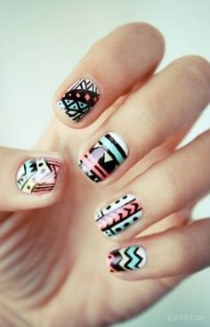 Tribal nails! These are awesome! I love them.