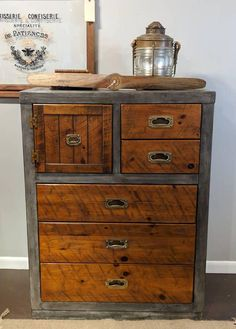 Painted Furniture High Boy Chest of Drawers Dresser #ad