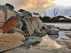 #sunset Bay of Fires, #Tasmania #bayoffires