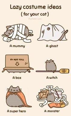 Pusheen Cat Lazy Costume Ideas hahaha @Sarah Marek lets be a box this year!