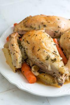 Butterflied Rosemary Roasted Chicken Recipe
