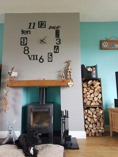 My log stove fire