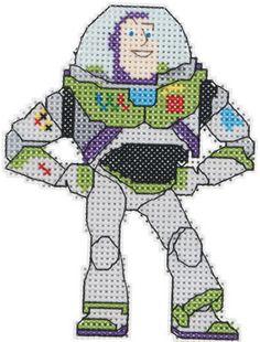 Plastic Canvas Toy Story | Janlynn Disney Buzz Lightyear Cross Stitch Kit