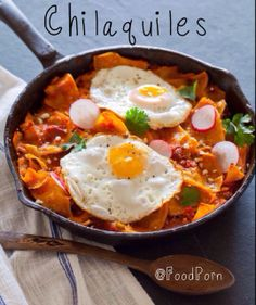 Who wants a little #Latin Spice for #breakfast? #FoodPorn #Chilaquiles