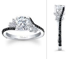 Black Diamond Engagement Ring - Barkev's - 7908LBKW