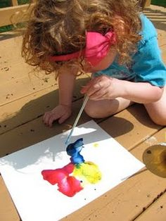 Take the straw and blow the paint around.  just be sure the air is going OUT the straw!