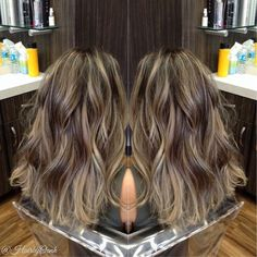 Rooty beige blonde highlights and chocolate brown lowlights on my girlfriend @yyesdnill #hairbyoanh ...