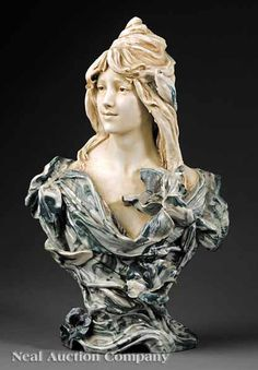 "Royal Dux Porcelain Sculpture of ""A Naiad"", early 20th c., in the Art Nouveau style"