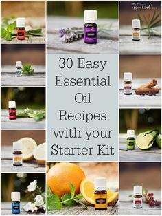 30 Easy Essential Oil Recipes with your Starter Kit - Recipes with Essential Oils