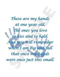 Child's Handprint Poem Keepsake