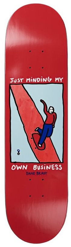 Polar Skate Co. Brady Just Minding My Own Business 8.75 Skateboard Deck - green-red - Free Shipping