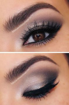 Take a look at these false eyelashes and smokey eye make up. Make those brown eyes a little more stunning with a pair of false eyelashes, smokey eye makeup and a well defined eyebrow. Eye Makeup Pictures, Eye Makeup Tips, Smokey Eye Makeup, Love Makeup, Skin Makeup, Beauty Makeup, Makeup Looks, Makeup Ideas, Smoky Eye