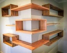 Building some DIY corner shelves might be a great idea for your next weekend project. Corner shelves are a smart solution for your small space. If you want to have shelves but you don't want to be too much on . Diy Corner Shelf, Corner Shelves Living Room, Corner Space, Bedroom Corner, Master Bedroom, Diy Furniture, Furniture Design, Furniture Plans, System Furniture